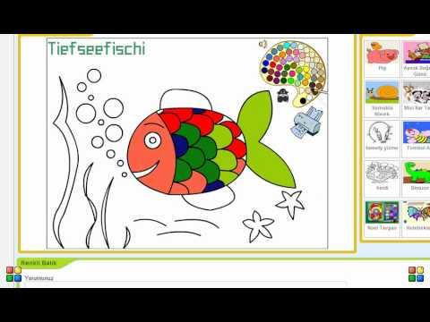 Renkli Balık Boyama Oyunu