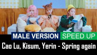 Cao Lu, Kisum, Yerin - Spring again [MALE VERSION] [SPEED UP]