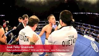 Jose Felix Quezada KO en su primer pelea profesional