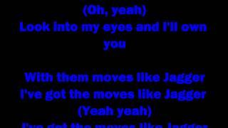 Maroon 5 Feat. Christina Aguilera - Moves Like Jagger (CLEAN VERSION) - Lyrics On Screen