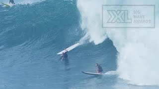 Emi Erickson at Waimea Bay - 2015 Billabong Ride of the Year Entry - XXL Big Wave Awards