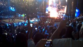 THE ROCK! ENTRANCE LIVE! AT MSG! FINALLY!!!