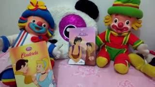 Cinderela e Alladin. Historinhas infantis. Histórias Disney.