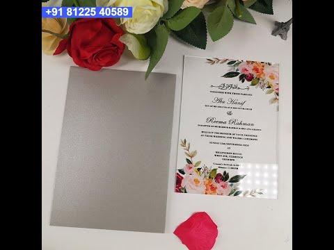 Acrylic LED Wedding Invitation Card +91 81225 40589