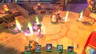 Lords mobile defense vs rose knight in the arena