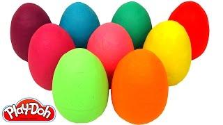 Aprende los Colores con 9 Huevos Sorpresas Coloridos width=