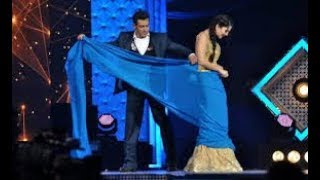 Salman Khan and sunny Leone in award show comedy width=