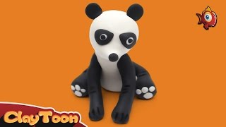 Panda - Polymer clay tutorial