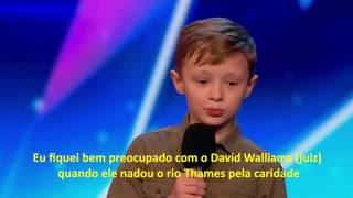 Ned Woodman - Criança comediante INSULTA os juízes em show de talentos (LEGENDADO)