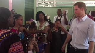 Prince Harry visits Guyana children's home founded by Moonies sect