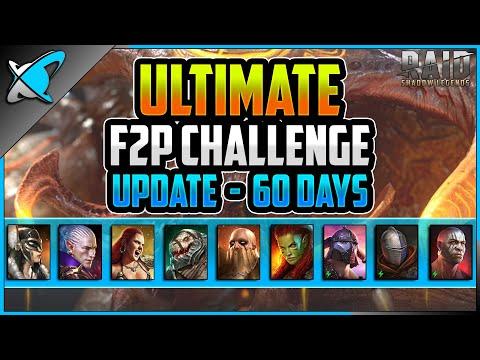 *ULTIMATE* F2P CHALLENGE !! | 60 Day Update | 2FangsInYaz Account Showcase #2 | RAID: Shadow Legends