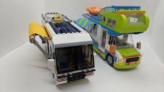 LEGO Van Showdown:  LEGO Creator Vacation Getaways (31052) and LEGO Friends Mia's Camper Van (41339)