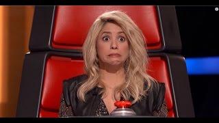 La cara de Shakira al escuchar su canción 'Loca' The Voice2016