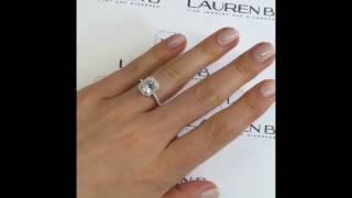 2 carat Radiant Cut Moissanite Engagement Ring