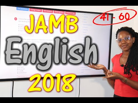 JAMB CBT English 2018 Past Questions 41 - 60