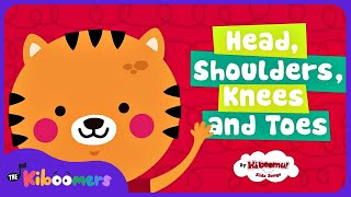 Head Shoulders Knees and Toes | Nursery Rhymes Songs | The Kiboomers