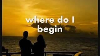 LOVE STORY (Where Do I Begin?) - Andy Williams (Lyrics)