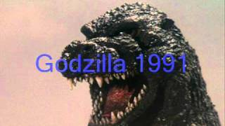 Godzilla Sounds from 1962, 1991, and 2000