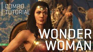 INJUSTICE 2: Wonder Woman Combo Tutorial (1 Meter)