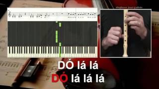Sia Chandelier Karaoke COM VOZ GUIA das notas para flauta Educação Musical José Galvão
