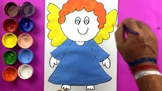 Little Fairy How To Draw  - Angel Girl Coloring Pages For Kids