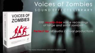 Voices of Zombies - Sound Effects Library
