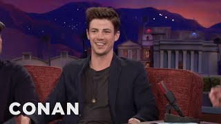 Grant Gustin's Spur Of The Moment Marriage Proposal  - CONAN on TBS