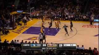 Swaggy P hits half court buzzer beater vs Minnesota!