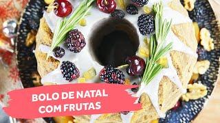Bolo de Natal Com Frutas | Colher de Sopa