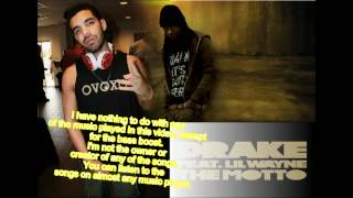 Drake ft Lil Wayne - The Motto Bass Boosted Clean