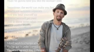 Jason Mraz - The Woman I Love [with scrolling lyrics]