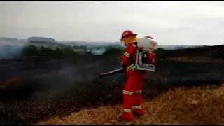 Vídeo do combate ao incêndio em lavoura pelos Bombeiros Voluntários