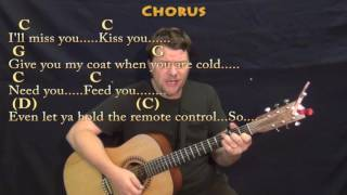 Grow Old With You (Adam Sandler) Strum Guitar Cover Lesson in G with Chords/Lyrics