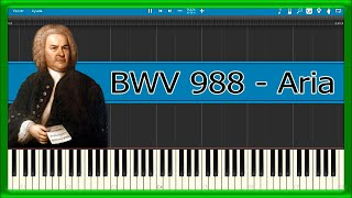 Goldberg Variations, BWV 988 - Aria - Bach (Piano Tutorial)
