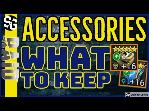 RAID SHADOW LEGENDS | ACCESSORIES | WHAT TO KEEP | WHAT TO SELL