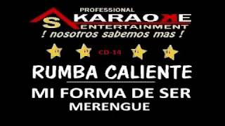 KARAOKE  RUMBA CALIENTE MI FORMA DE SER CD 14