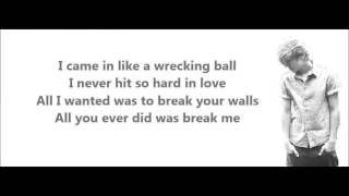 Wrecking ball - Miley Cyrus Daniel J Cover (Lyrics + pictures)