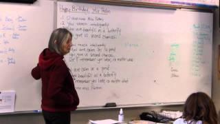 Birthday pantoum for a teacher
