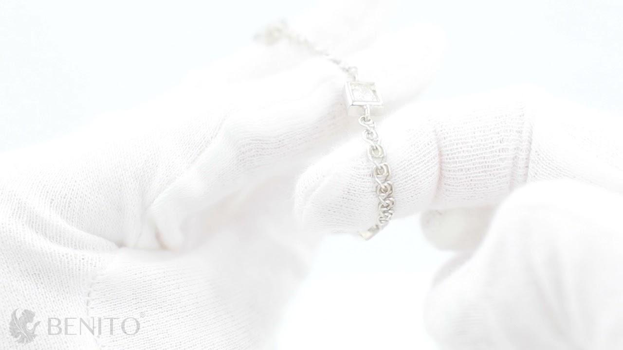 Tina Bracelet White Zircon Stones