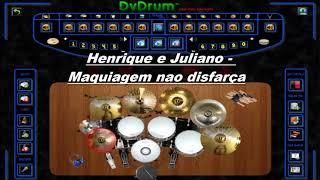 Henrique e Juliano - MAQUIAGEM NÃO DISFARÇA DRUM COVER (Bateria Virtual)