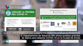 Departamento de Salud de MN ofrece pruebas gratuitas de COVID-19 en el Consulado de México St. Paul