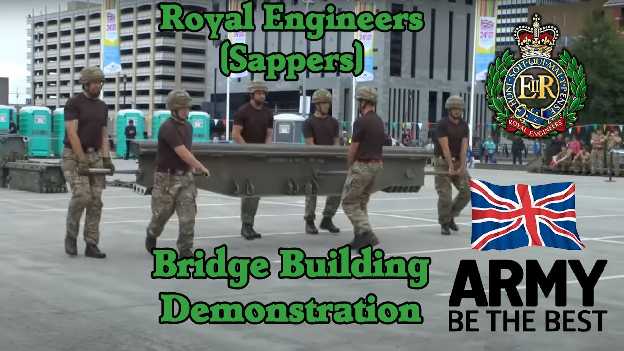 British Army – Royal Engineers Bridge Building Demonstration (Sappers)