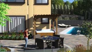 3D Hardscape Landscape Design Architecture