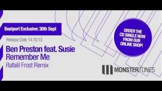 Ben Preston feat. Susie - Remember Me (Rafaël Frost Radio Edit)