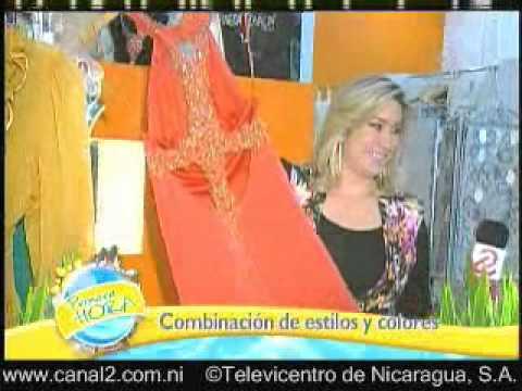 Miss Nicaragua 2012, Farah Eslaquit. Combinación de estilos y colores.