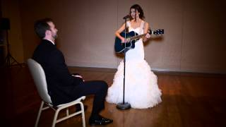 "Wedding surprise for my groom - cover of ""Grow old with you"" by Adam Sandler"