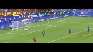 Eder que golo expetacular Portugal vs France 1-0 Euro 2016 Final