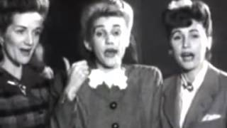 The Andrews Sisters - Boogie Woogie Bugle Boy From Company B