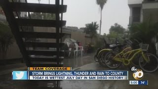 Storm brings lightning, thunder and rain to county