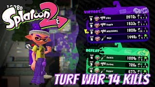 SPLATOON 2 TURF WAR 14 KILLS MATCH
